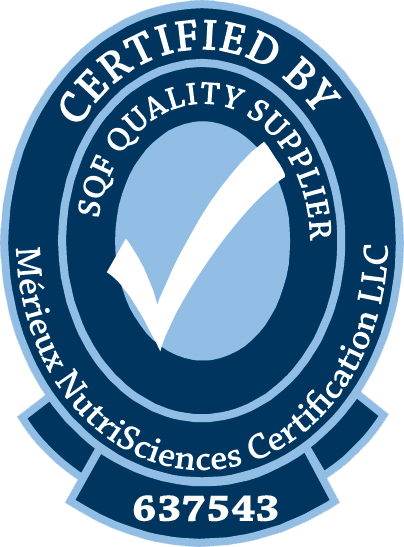 Certified by SQF Quality Supplier